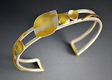Petite Leaf Cuff by Judith Neugebauer (Gold & Silver Bracelet)