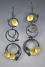 Cosmic Rings Earrings by Judith Neugebauer (Gold & Silver Earrings)
