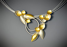 Garden Bouquet Necklace by Judith Neugebauer (Gold & Silver Necklace)