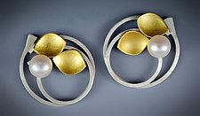 Pearl Bud Earrings by Judith Neugebauer (Gold, Silver & Stone Earrings)