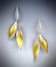 Petal Dangle Earrings by Judith Neugebauer (Gold & Silver Earrings)