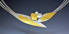 Budding Flower Necklace by Judith Neugebauer (Gold, Silver & Stone Necklace)