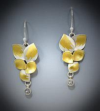 Garden Sapphire Earrings by Judith Neugebauer (Gold, Silver & Stone Earrings)
