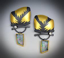 Vintage Opal Earrings by Judith Neugebauer (Gold, Silver & Stone Earrings)