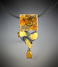 Relic Necklace by Judith Neugebauer (Gold, Silver & Stone Necklace)