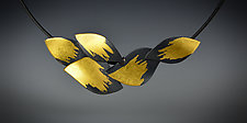 Leaf Cluster Necklace by Judith Neugebauer (Gold & Silver Necklace)