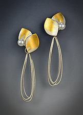 Vera Earrings by Judith Neugebauer (Gold, Silver & Pearl Earrings)
