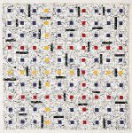 Earth Quilt #53: Homage to Mondriaan XXIV by Meiny Vermaas-van der Heide (Fiber Wall Hanging)