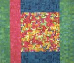 Thy Will be Done: a Green Quilt by Meiny Vermaas-van der Heide (Fiber Wall Hanging)