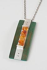 Rising Necklace by Ayala Naphtali (Silver, Stone, & Wood Necklace)