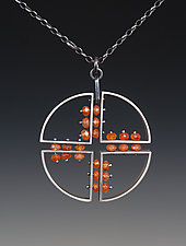 Partition Pendant by Ayala Naphtali (Silver & Stone Necklace)
