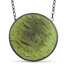 Coconut Disc Pendant by Ayala Naphtali (Silver & Wood Necklace)