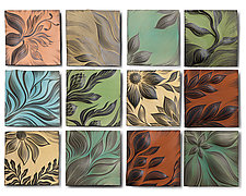 Botanical II by Natalie Blake (Ceramic Wall Sculpture)