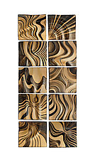 Honey Ripple Tiles by Natalie Blake (Ceramic Wall Sculpture)