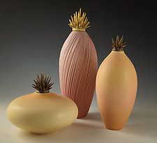 Warm Tone Vessels by Natalie Blake (Ceramic Vessel)