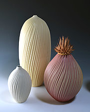 Striated Vessels by Natalie Blake (Ceramic Vessel)