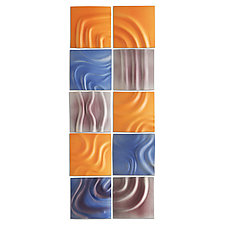 Elementals Ceramic Wall Tile Set by Natalie Blake (Ceramic Wall Sculpture)