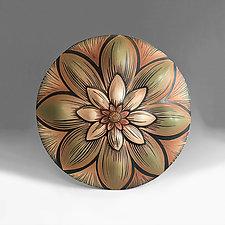 Dahlia Mandala by Natalie Blake (Ceramic Wall Sculpture)