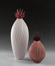 Berry Crush Sculptural Vessels by Natalie Blake (Ceramic Vessel)