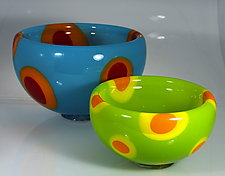 Double Dot Bubble Bowl by Cristy Aloysi and Scott Graham (Art Glass Bowl)