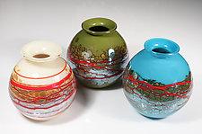 Wrapped Vase by Cristy Aloysi and Scott Graham (Art Glass Vase)