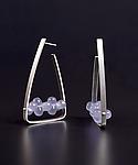 Triangle Hoop Earrings by Ayala Naphtali (Silver & Stone Earrings)