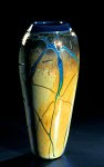 Golden Gem Vase - Aquamarine by Cristy Aloysi and Scott Graham (Art Glass Vase)