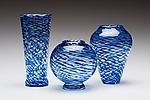 Ripple Vases by Kenny Pieper (Art Glass Vase)