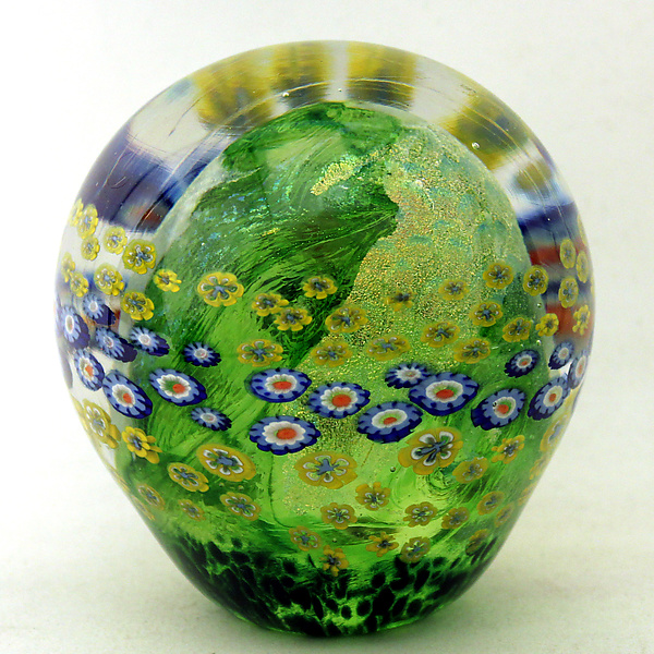 Moss Green Floral Paperweight