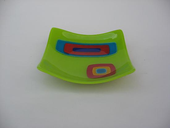 Collage Square Bowl - Chartreuse