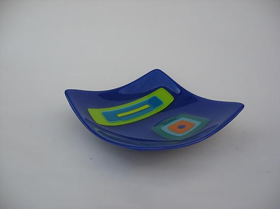 Collage Square Bowl - Egyptian Blue
