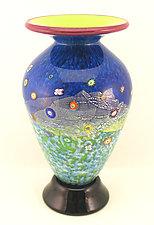 Classic Meadow Blossom Vase by Ken Hanson and Ingrid Hanson (Art Glass Vase)