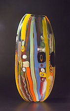 Tapestry Flat by Bengt Hokanson and Trefny Dix (Art Glass Vessel)