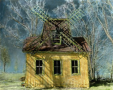 The Windmill by Elizabeth Holmes (Infrared, Hand Painted Photograph)