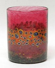 Sunflower Tumblers by Ken Hanson and Ingrid Hanson (Art Glass Tumblers)