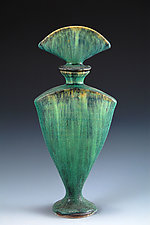 Green Perfume Bottle by Daniel Slack (Ceramic Perfume Bottle)
