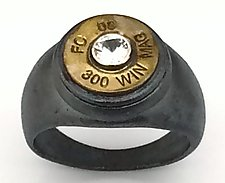 Peace Fire FC 09 300 Win Mag by Alexan Cerna and Gina  Tackett (Silver, Brass & Stone Ring)