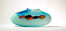 Celadon Purse by Bengt Hokanson and Trefny Dix (Art Glass Vase)