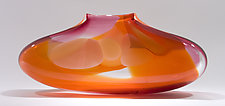 Orange Ruby Purse by Bengt Hokanson and Trefny Dix (Art Glass Vase)