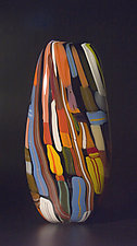 Black Valise by Bengt Hokanson and Trefny Dix (Art Glass Vessel)