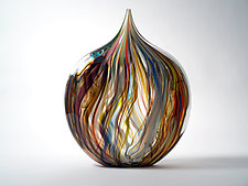 Crayon Heart by Bengt Hokanson and Trefny Dix (Art Glass Sculpture)