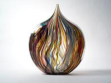 Crayon Heart by Bengt Hokanson and Trefny Dix (Art Glass Sculpture)