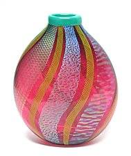 Ruby Dichroic Vase by Ken Hanson and Ingrid Hanson (Art Glass Vase)