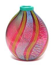 Ruby Dichroic Vase by Ken Hanson and Ingrid Hanson (Art Glass Vase)
