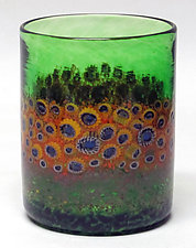 Sunflower Tumblers by Ken Hanson and Ingrid Hanson (Art Glass Tumblers)