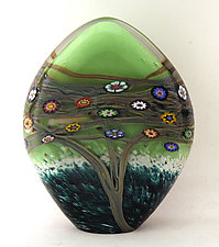 Tree of Life Paperweight by Ken Hanson and Ingrid Hanson (Art Glass Paperweight)