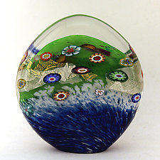 Meadow Paperweight by Ken Hanson and Ingrid Hanson (Art Glass Paperweight)