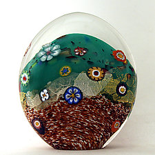 Sedona Paperweight by Ken Hanson and Ingrid Hanson (Art Glass Paperweight)