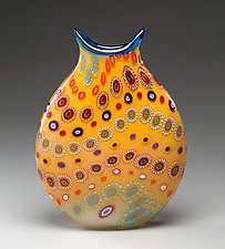 Primrose Marrakesh Vase by Ken Hanson and Ingrid Hanson (Art Glass Vase)