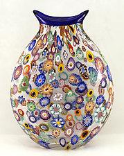 Large Impressionist Vase by Ken Hanson and Ingrid Hanson (Art Glass Vase)